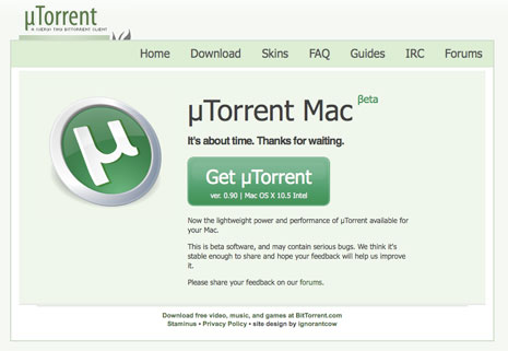 utorrent for mac os x 10.4