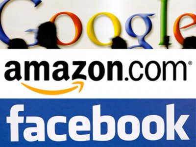 Image result for image of google+amazon+facebook